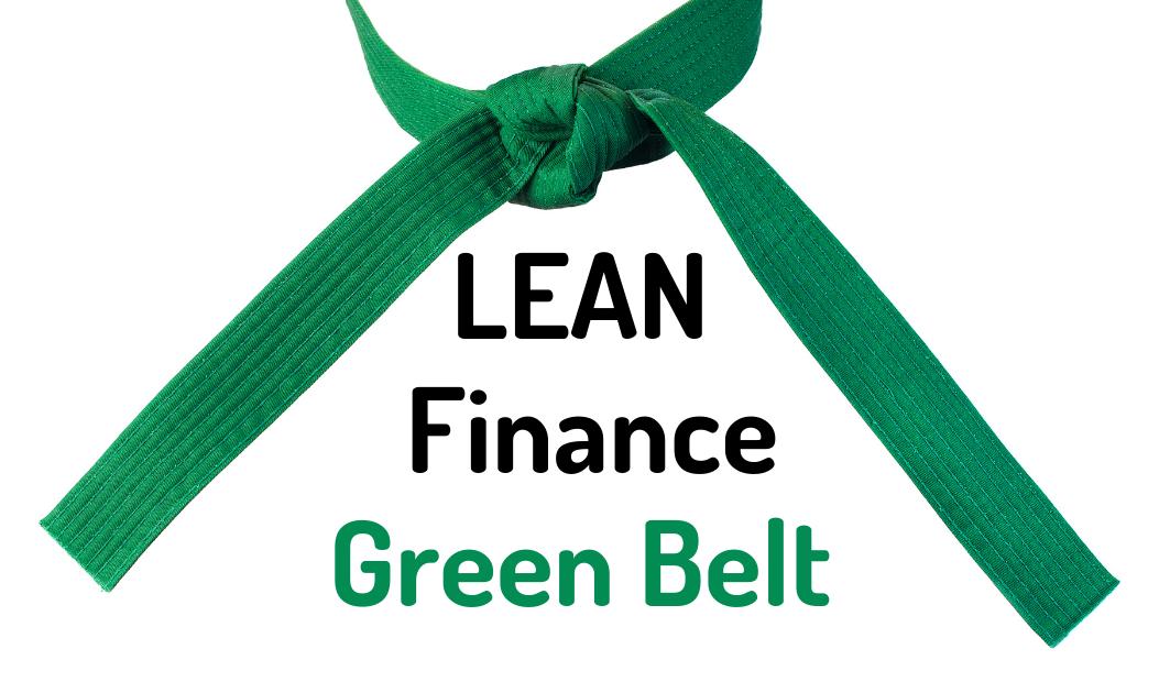 LEAN Finance Green Belt training